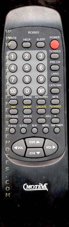 MOTEVA RC6001 SAMSUNG TV Remote Control