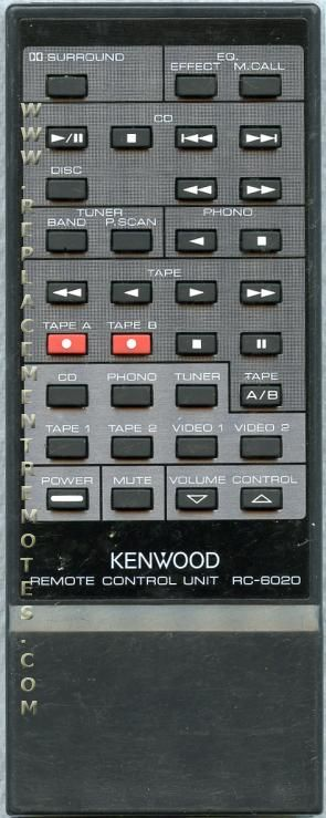 KENWOOD RC6020 Audio/Video Receiver Remote Control