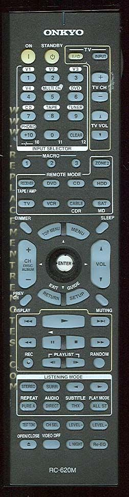Buy ONKYO RC-620M RC620M -24140620 Audio/Video Receiver Remote Control