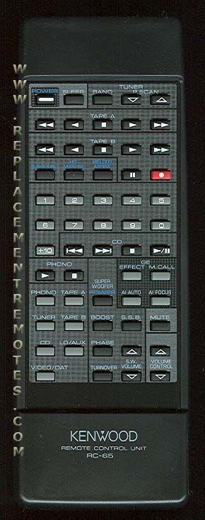 KENWOOD RC65 Remote Control