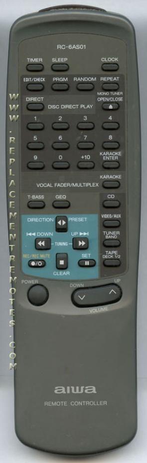 AIWA RC6AS01 Audio System Remote Control