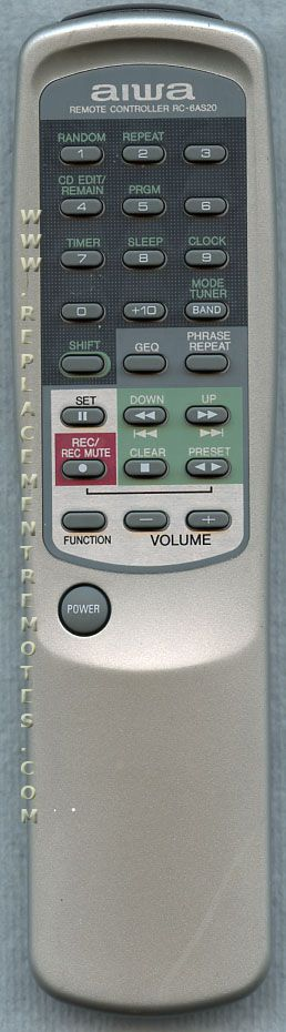AIWA RC6AS20 Audio System Remote Control