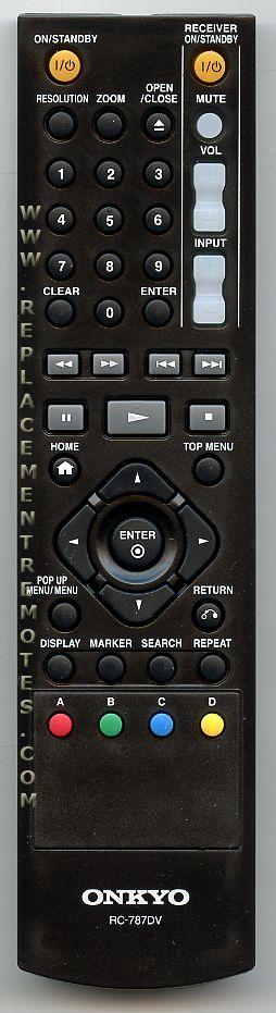 ONKYO RC787DV DVD Player Remote Control