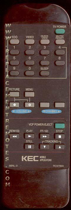 KEC RC9796A Remote Control