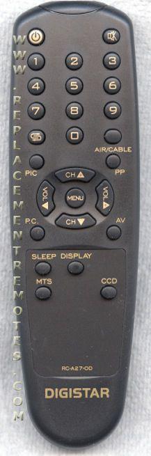 DIGISTAR RCA27N0D TV Remote Control