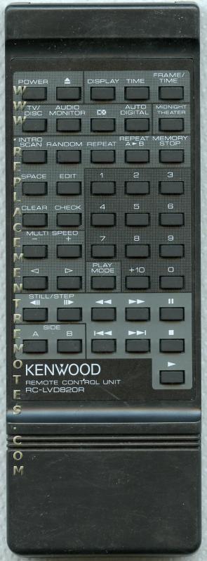 KENWOOD RCLVD820R Audio System Remote Control