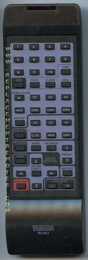 YAMAHA RCNC1 Audio/Video Receiver Remote Control