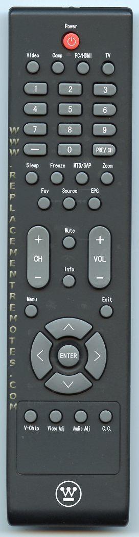 Westinghouse RCNN271 TV Remote Control
