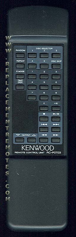 KENWOOD RCP0703 Audio System Remote Control