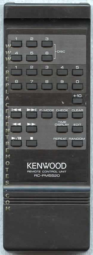 KENWOOD RCPM5520 Audio System Remote Control