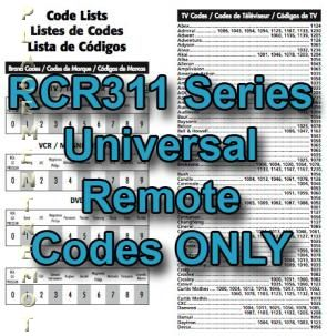 download free rca rcr311 series codes onlyom rcr311b code book only rh replacementremotes com rca rcr311w user manual RCA Clock Radio Manual