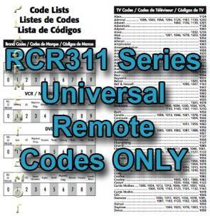 RCR311 Series Codes OnlyOM