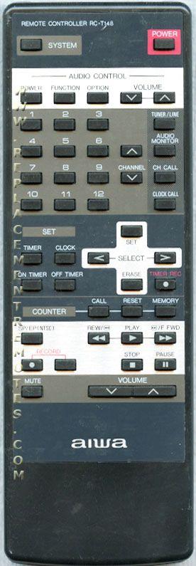 AIWA RCT148 Audio System Remote Control