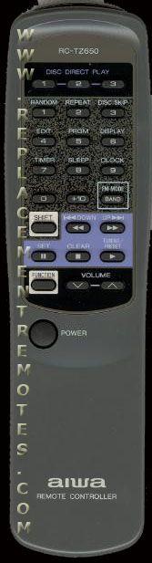 AIWA RCTZ650 Remote Control