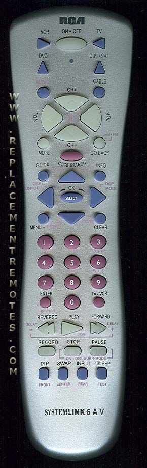 RCA RCU600WHS 6-Device Universal Remote Control