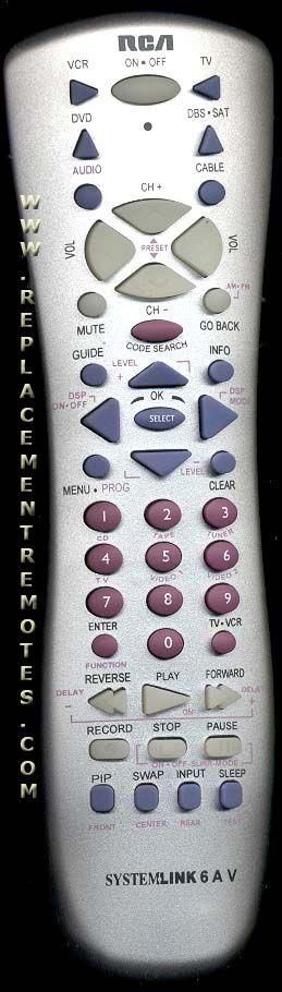 RCA RCU600WMS 6-Device Universal Remote Control