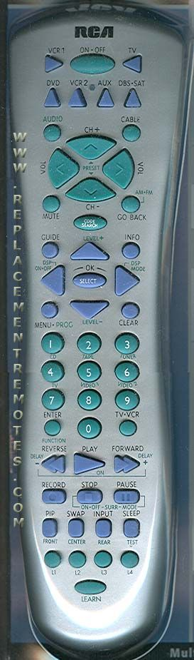 RCA RCU800MSL 8-Device Universal Remote Control