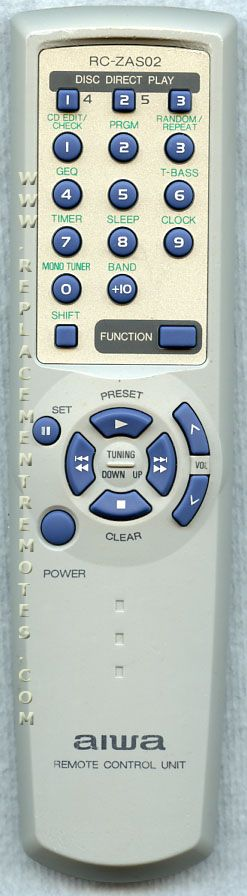 AIWA RCZAS02 Audio System Remote Control