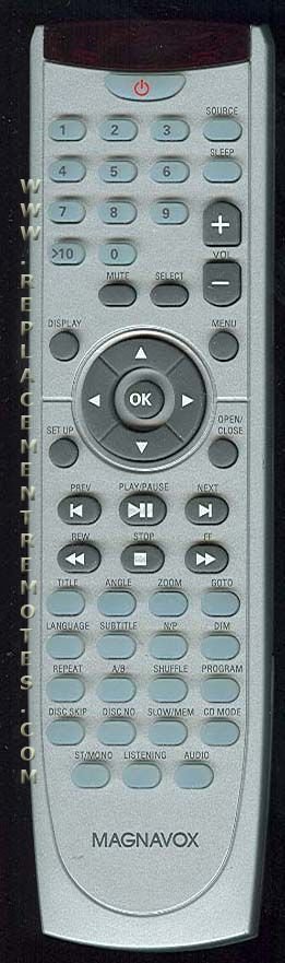 Magnavox RCMRD25037A DVD Player Remote Control