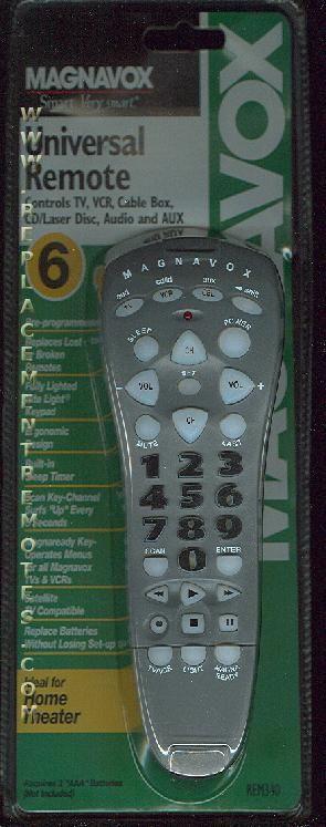 buy magnavox rem340 6 device universal remote control rh replacementremotes com Universal Remote for Magnavox TV Jumbo Universal Remote Codes Magnavox