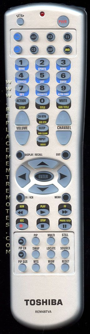 TOSHIBA REM48TVA Remote Control