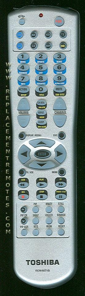 TOSHIBA REM48TVB 8-Device Universal Remote Control