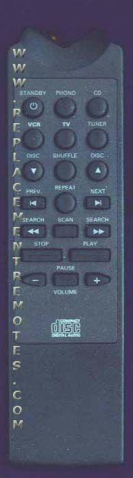 Magnavox RH6828 Audio System Remote Control