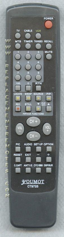 TOSHIBA RKCT9725 Remote Control