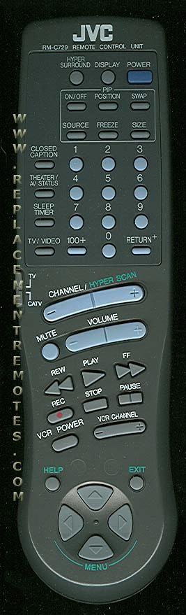 JVC RMC729 TV Remote Control