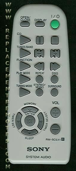 Buy Sony Rm Scex1 Rmscex1 141861411 Audio System Remote