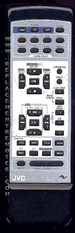 JVC RMSR505U Remote Control