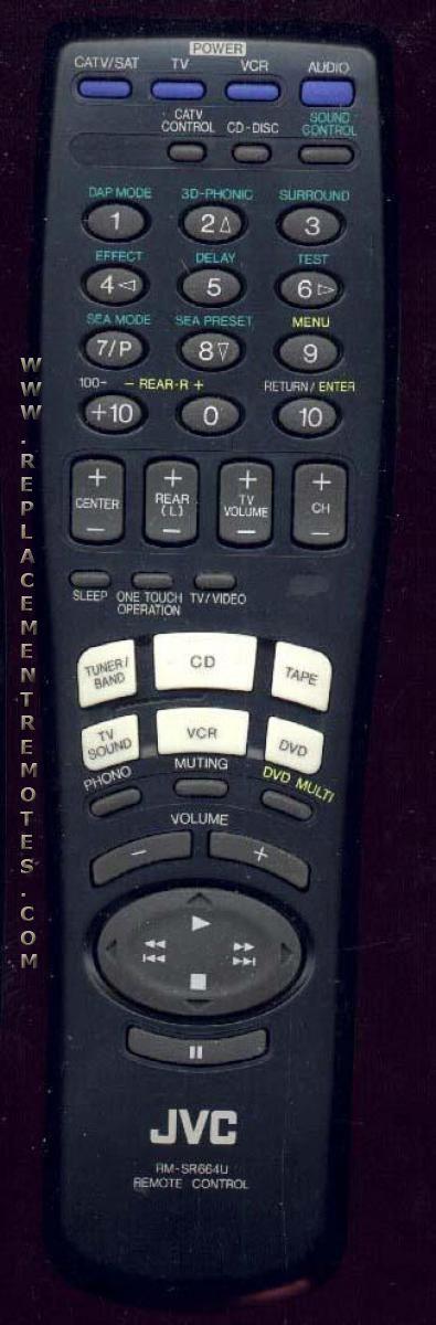 JVC RMSR664U Audio System Remote Control
