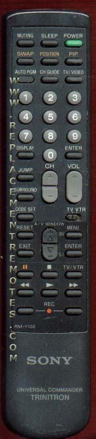 SONY RMY102 Remote Control