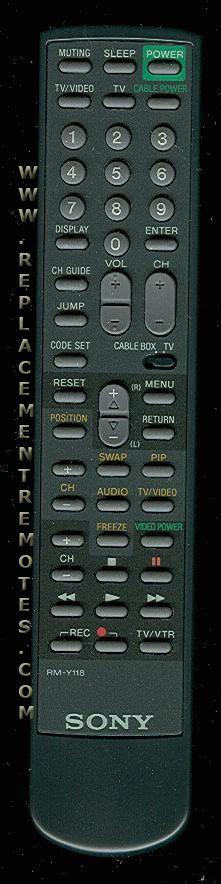 SONY RMY118 TV Remote Control