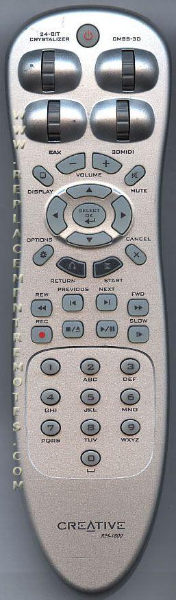 Creative RM1800 Remote Control