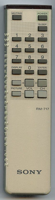 SONY RM717 TV Remote Control
