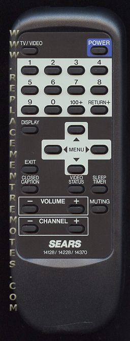 SEARS RMC5431H for JVC Remote Control