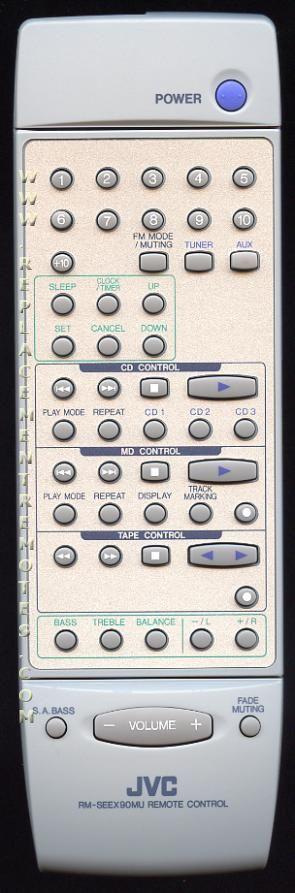 JVC RMSEEX90MU Audio/Video Receiver Remote Control