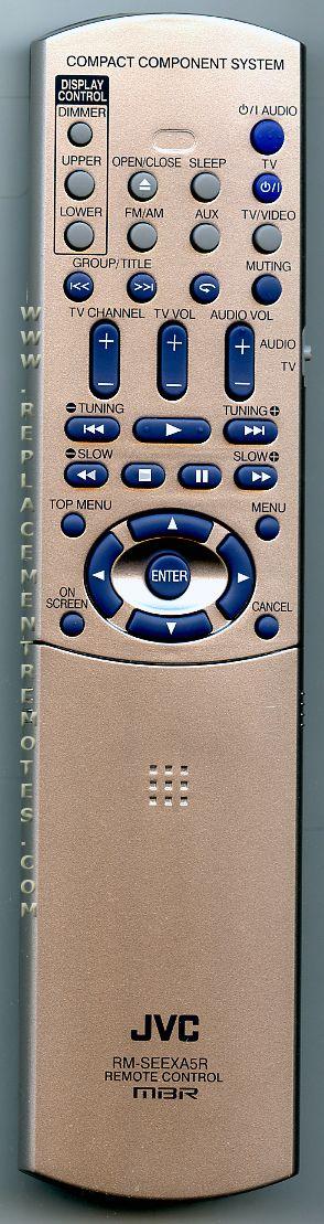 JVC RMSEEXA5R Remote Control