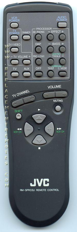 Buy Jvc Rm Spr03u Rmspr03u Remote Control