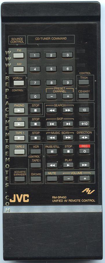 JVC RMSR450 Audio System Remote Control