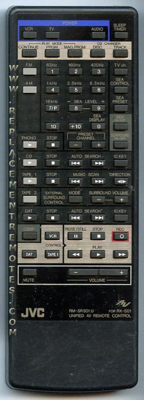 JVC RMSR501U Audio/Video Receiver Remote Control