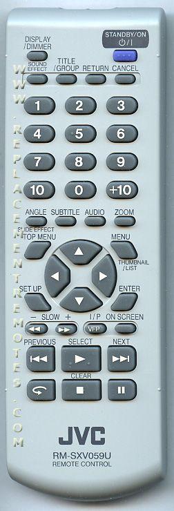 JVC RMSXV059U Remote Control