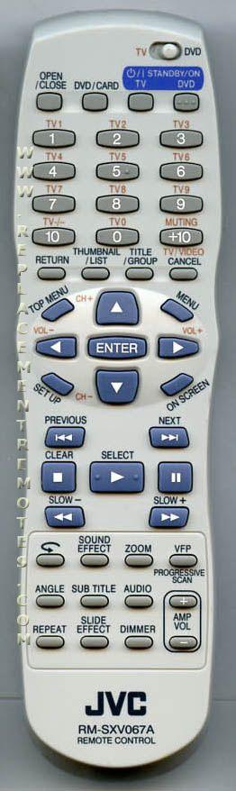 JVC RMSXV067A DVD Player Remote Control