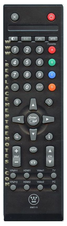 Westinghouse RMT11 TV Remote Control