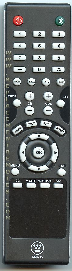Westinghouse RMT15 TV Remote Control