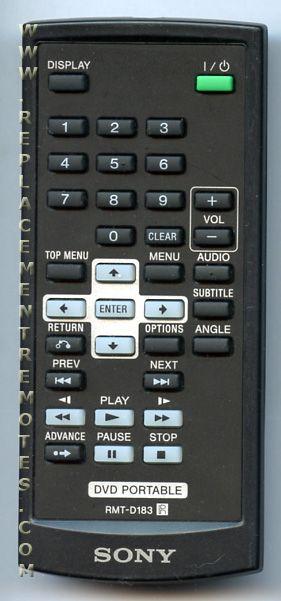 Buy SONY RMT-D183 RMTD183 -988511068 TV/DVD Combo Remote
