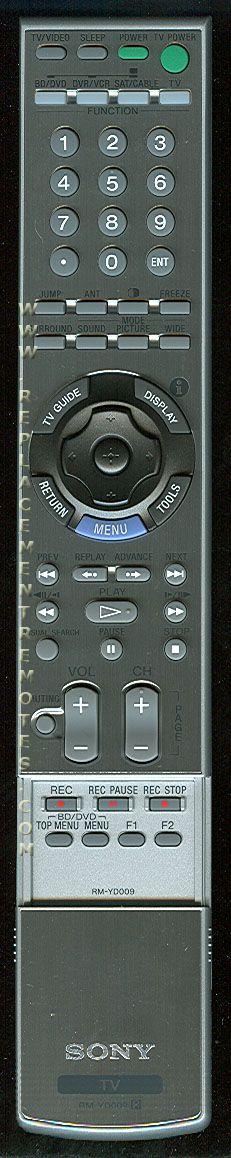 SONY RMYD009 TV Remote Control