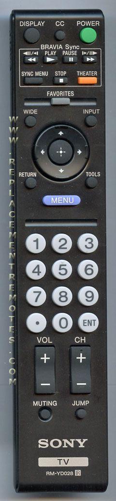 Buy SONY RM-YD028 RMYD028 -148718011 TV Remote Control