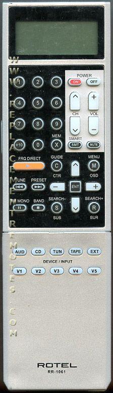 ROTEL RR1061 Audio System Remote Control